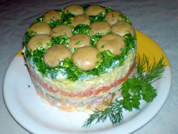 Салат мужской рецепт с фото с говядиной
