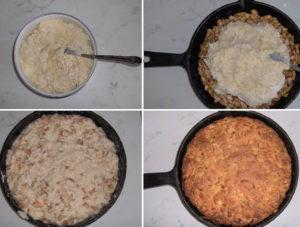 Шарлотка с яблоками на сковороде на плите рецепт с фото пошагово