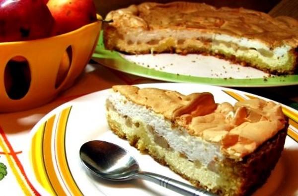 Воздушный пирог яблоками рецепт фото