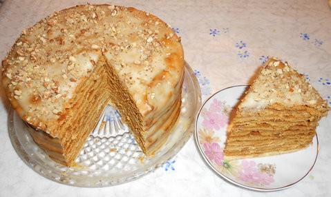 Медовик торт рецепт с заварным кремом пошагово с