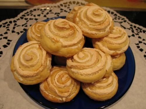 печенье из творога розочки с безе пошаговый рецепт с фото